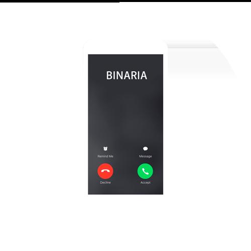 Llamar a Binaria